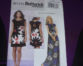 Butterick 5456 Fast and Easy Loose-Fitting, Pullover Dress  Size 16-18-20-22-24   New Uncut