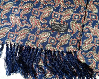 Tootal Paisley  Blue  Scarf