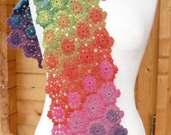 IRIS Crochet Scarf PDF Pattern
