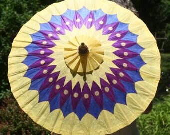 Parasol - Hand Painted Yellow Parasol