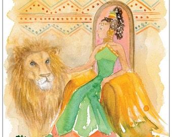 The Queen of Sheba postcard