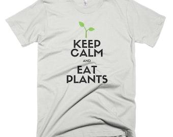 Vegan Vegetarian Keep Calm and Eat Plants Short-Sleeve T-Shirt