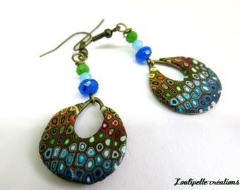 Earrings ' multicolored earrings