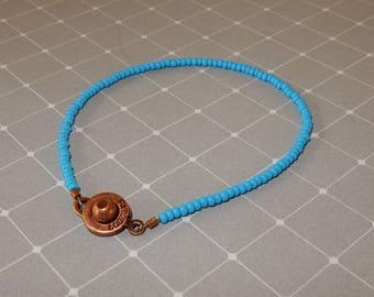 Tiny seed bead bracelet, simple bracelet, dainty bracelet, minimal bracelet, delicate bracelet, layering bracelet, friendship bracelet.
