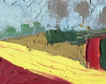 YELLOW FIELD - France Painting - Landscape Oil Painting - Elizabetha Fox