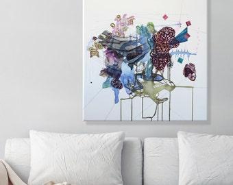 "Large Wall Art ORIGINAL painting canvas art abstract modern art contemporary painting fine art wall art decor 28"" x 28"""