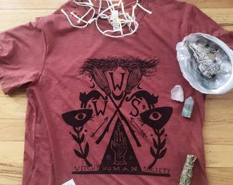 witchy woman society tri blend ladies tee