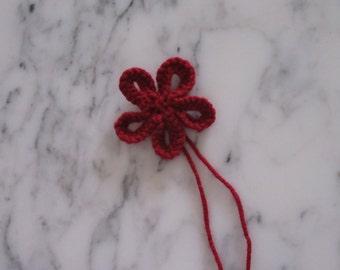 Knitted Flower, Burgundy