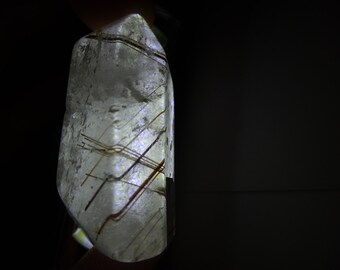 Rutilated  Clear Quartz Crystal Points, Polished