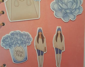 Winter girl Magnetische Lesezeichen