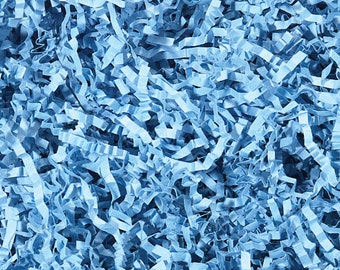 Blue Paper Shred, Gift Basket Filler, Packing Material, Decorative Paper