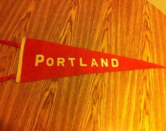 Portland Oregon Vintage Felt Pennant