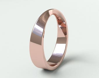 Wedding Band - Mobius - Mobius Band - Infinity Gold Ring - Mobius ring