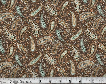 06052 - 1/2 yard of  Niagra Mills - Perfect Paisley in Chocolate color