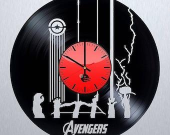 The Avengers Vinyl Record Wall Clock Home Decor