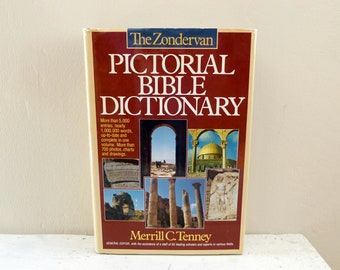 Reference book, Pictorial Bible Dictionary, Zondervan Dictionary, Bible scholar, college gift, study guide, history book, ancient history