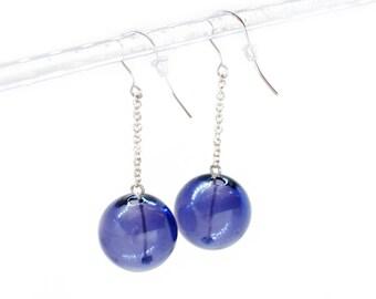 Hollow blown dangle earrings