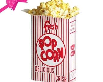 Retro Popcorn Box. Circus popcorn box. Carnival popcorn box. Carnival party supplies. Circus party supplies. Popcorn bag. Popcorn containers