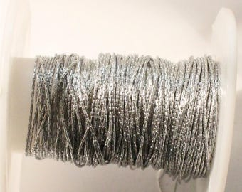 1meter--Sterling Silver Chain with Rodium (925) 1mm (B42-20)