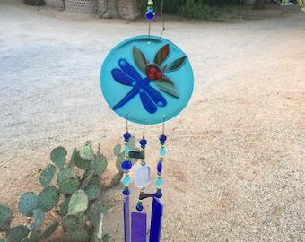 Windchime Dragonfly Window Porch Garden Decor