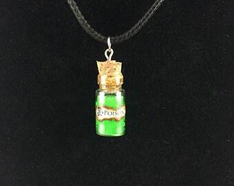 Poison Bottle Charm Necklace