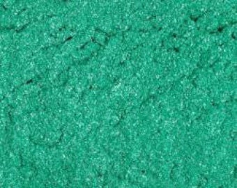 Teal Green MIca Shimmer Pigment Cosmetic Powder For Soap Making Mineral Make Up Powder Craft 1 oz