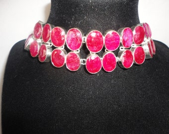 This Magnificent 355 Carats of Rubies Silver Bracelet*****.
