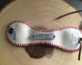 Custom Baseball Cuff Bracelet