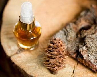 Sierra Eau de Parfum, A Natural Perfume with a Prosperity Chord in a pretty glass atomizer, romantic, uplifting wood, vanilla perfume
