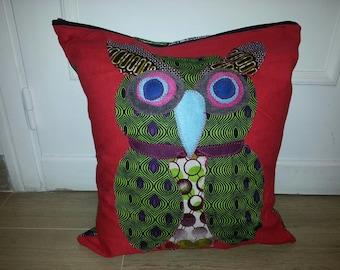 OWL wax on original decorative pillow cover