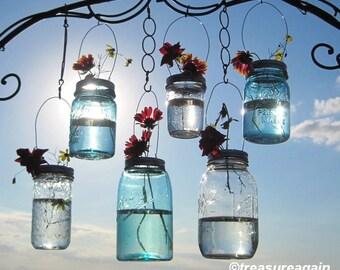 Hanging Mason Jar Vases Flower Frog LIDS, Mason Jar Wedding Decorations, DIY Lids Only - No Jars