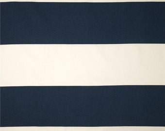 Thick Stripes Curtains. Premier Navy Blue. Pair of 2 Drapery Panels. Nursery Window Treatments.