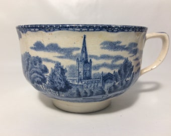 Johnson Brothers England - Stratford on Avon print on one side,  Penshurst Kent Castle on the other, blue transfer, by H. Fennell.