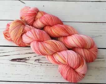 Peachy Hand Dyed Superwash BFL/ Nylon Sock Yarn