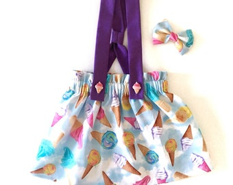 Felicity Suspender Skirt (baby and toddler ice cream suspender skirt)