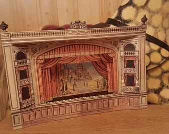 paper toy theatre model 1927 printable 20 high quality zip file