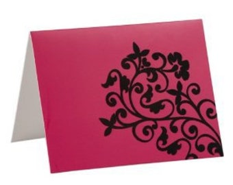 10  Flocked Note Cards - in a choice of 3 designs