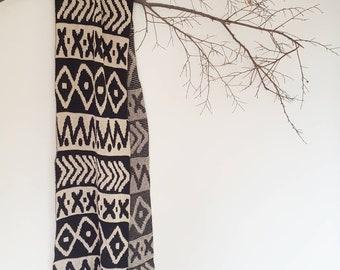 NEO FAIRISLE scarf merino wool oversized