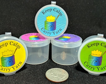 Keep Calm, Carry Yarn small round box for CROCHET
