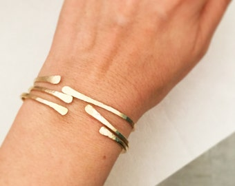 Gold bracelet set, Boho jewelry, Gold cuff bracelets, Open bangle bracelets, Gold bangle bracelets, Gold filled bangle, Gold cuff