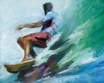 Surf Art, Surfer Print, Surf Legend Print, Beach Art