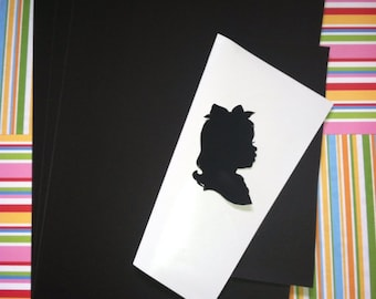 10 Sheets of Silhouette Paper 8.5 x11 inches