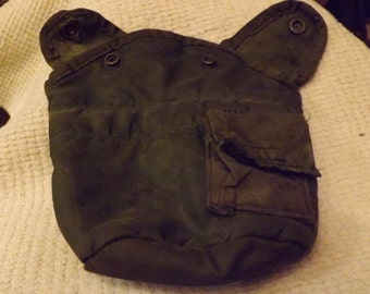 Army water canteen fur lined cover