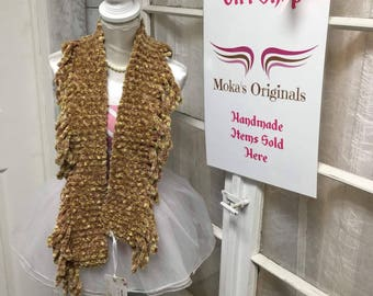 Brown-yellow soft scarf
