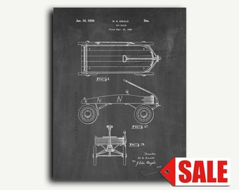 Patent Poster - Toy Wagon Patent Wall Art Poster Print Patent Print