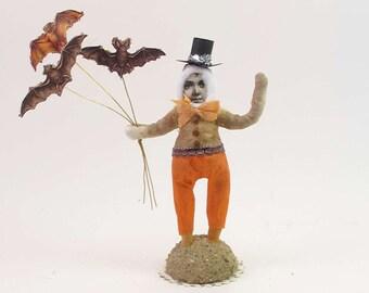 READY TO SHIP Mr. Bats Vintage Inspired Spun Cotton Figure Ooak