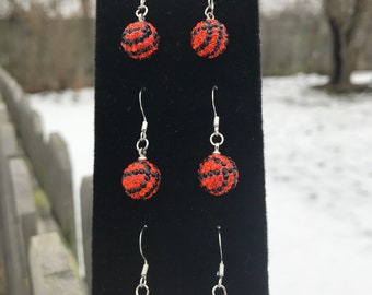 March madness basketball earrings