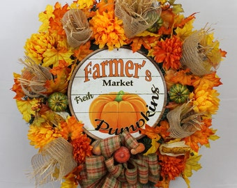 southern charm florals fall door decor fall farm wreath autumn wreath one - Fall Door Decorations