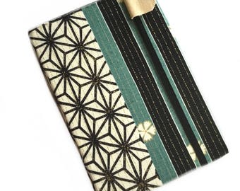 Kindle Paperwhite cover - Obi Stripe - Japanese inspired geometric kindle eReader case - hardcover - unisex