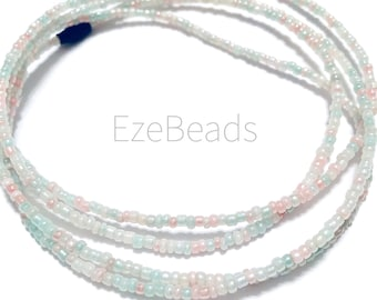 Pastel- African Waist Beads, African Jewelry, Waist Beads, Belly Chain,, Belly Beads, Waist Jewelry, Belly Chain Jewelry, EzeBead